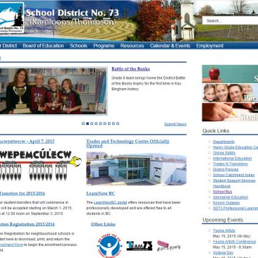 IA/UX Consulting B.C. School District 73